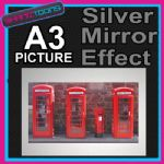 LONDON RED PHONE BOX ALUMINIUM PRINTED PICTURE SPECIAL EFFECT PRINT NOT CANVAS